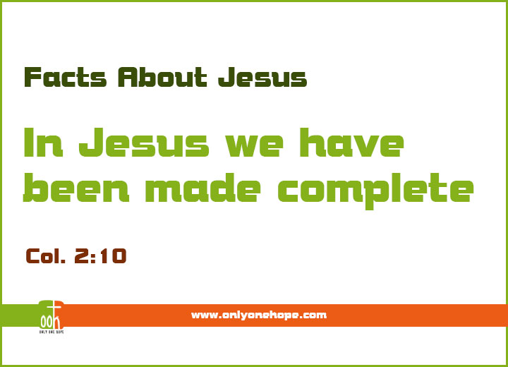 In Jesus we have been made complete