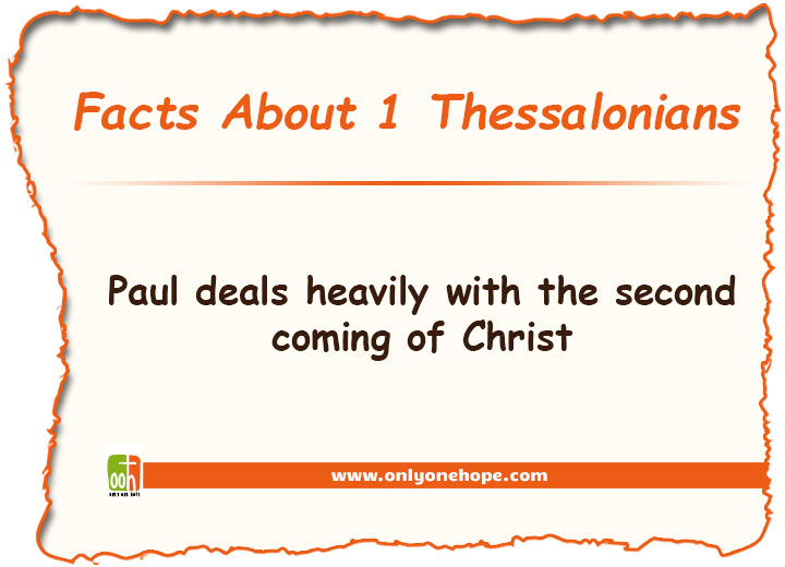 Paul deals heavily with the second coming of Christ