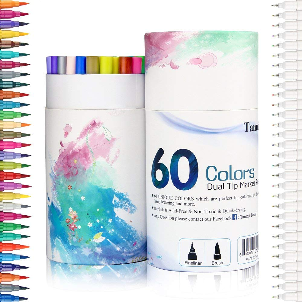 Calligraphy Brush Marker Pens     60 Colors