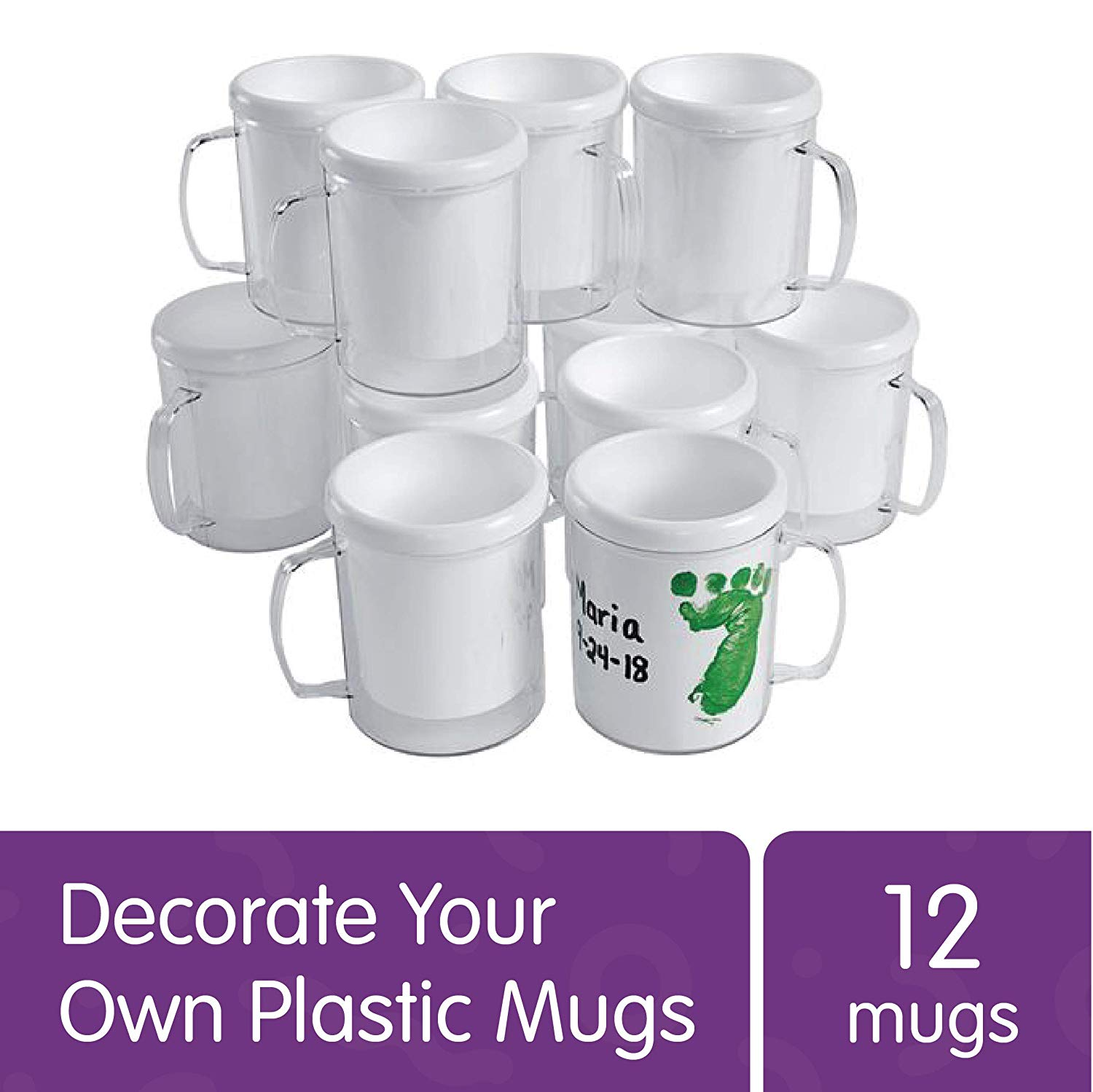 Colorations-Decorate-Your-Own-Plastic-Mugs-Set-of-12-for-Kids-Gifts-Mother-s-Day-Father-s-Day-Arts--Crafts-Craft-Project-Personalization-